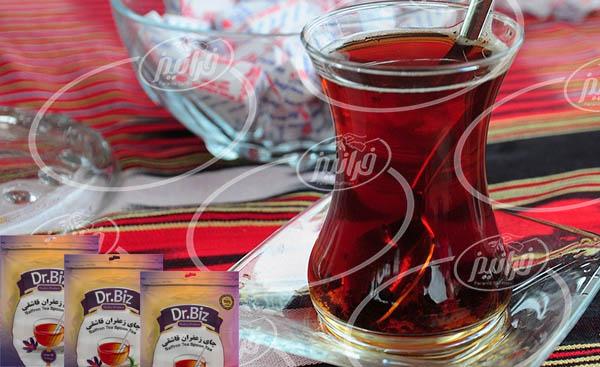 خرید چای زعفران قاشقی 16 تایی با قیمت خوب