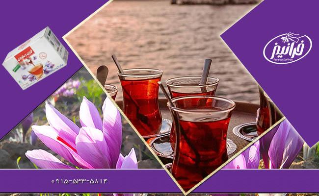 قیمت فروش دمنوش نوین زعفران با پک ویژه