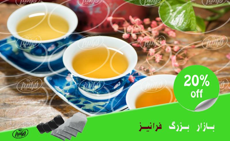 عرضه چای سبز زعفرانی سحرخیز در فروشگاه اصلی