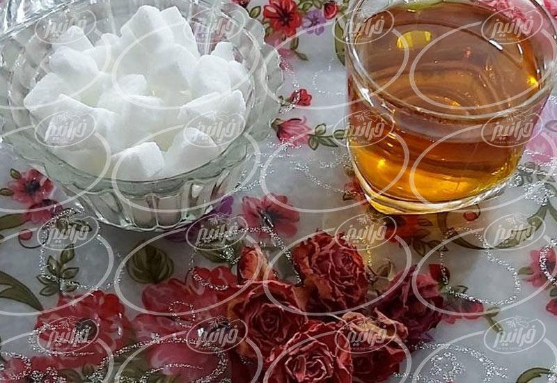 داد و ستد چای زعفران کیسه ای