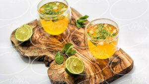 الگوی فروش نوشیدنی زعفران لیمو